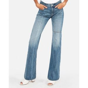 EXPRESS EUC Mid Rise Seamed Bootcut Jeans